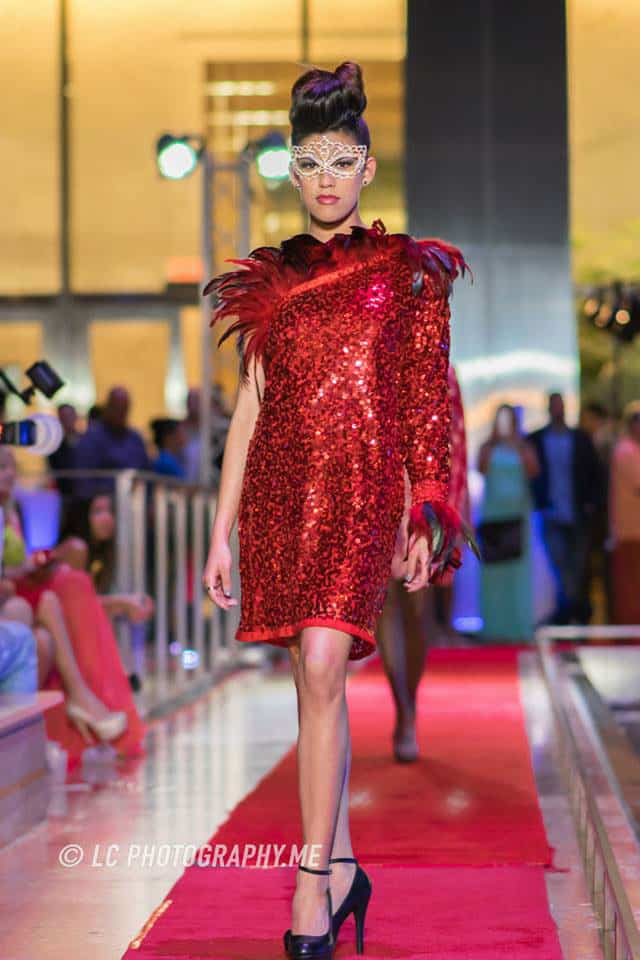 Model at the 2015 Fashion Night on Brickell