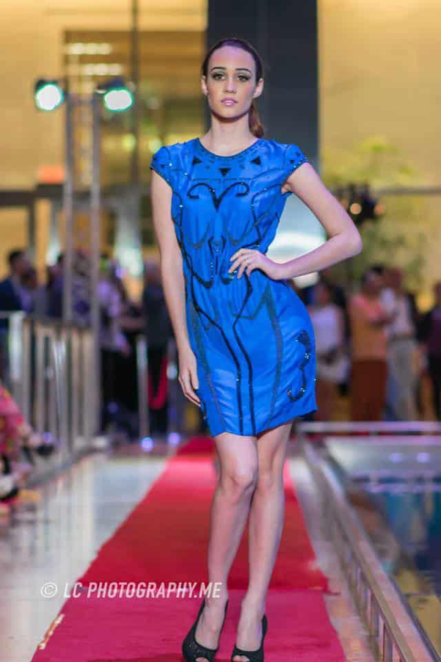 Model at the 2015 Fashion Night on Brickell