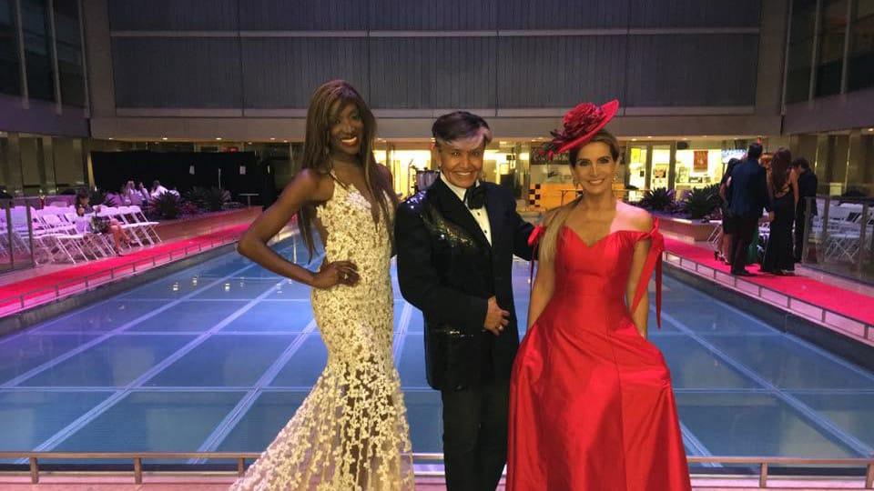2016 Fashion Night on Brickell, Mayra Joli with Oscar Romero and Sandra Coscio
