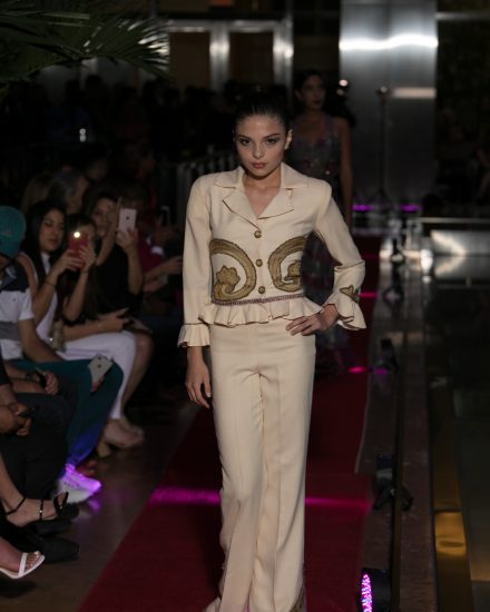 Model at Fashion Night on Brickell 2018