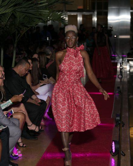 Model at Fashion Night on Brickell 2018