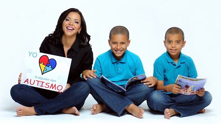 Journalist Sofia Lachapelle and her sons